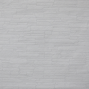 Stacked Stone Paintable White Wallpaper