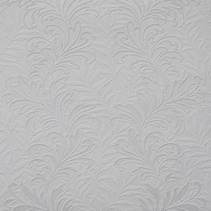 Botanical Leaf Paintable White Wallpaper