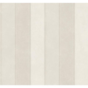 Legacy Scala Stripe White and Off White Wallpaper