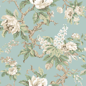 Legacy Vintage Garden Blue Wallpaper