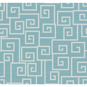 Legacy Contempo Scroll Blue Wallpaper