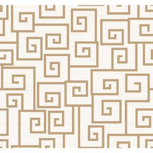 Legacy Contempo Scroll White Wallpaper