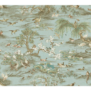Legacy Fragrant Garden Scenic Blue Wallpaper
