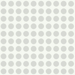 Girl Power Silver and White 2 Dots Wallpaper