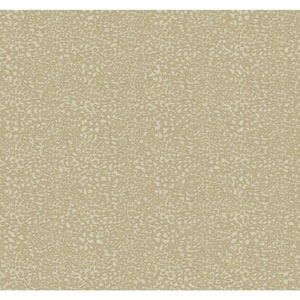 Natural Elements Beige and Gold All Over Leopard Skin Wallpaper