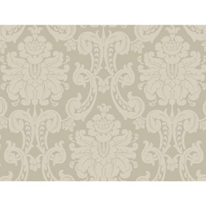 Sculptured Surfaces Silver and Cream Wilshire Wallpaper
