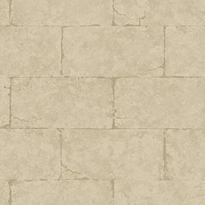 Fresco Block Wall Desert Tan and Caramel Sandstone Wallpaper: Sample Swatch Only
