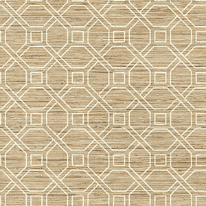 Coastal Trellis Tan Peel and Stick Wallpaper