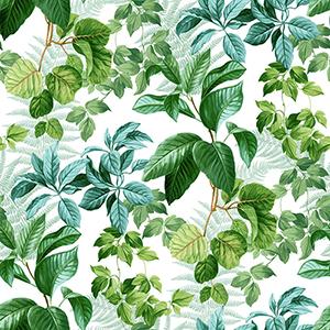 Rainforest Green Leaves Peel and Stick Wallpaper