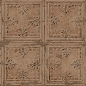 Tin Tile Copper Peel and Stick Wallpaper