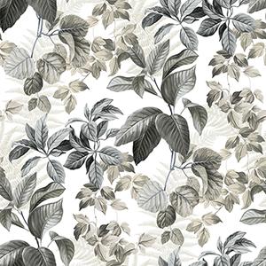 Rainforest Neutral Leaves Peel and Stick Wallpaper