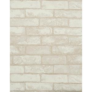 Modern Rustic Vanilla White and Pale Linen Off White Wallpaper
