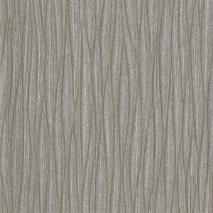 Silver Leaf II Whirl N Twirl Silver and Taupe Wallpaper