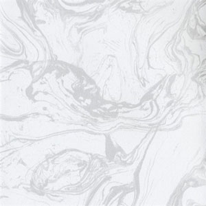 Industrial Interiors Modern Marble White and Metallic Silver Wallpaper