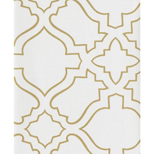 Atelier White and Gold Wallpaper
