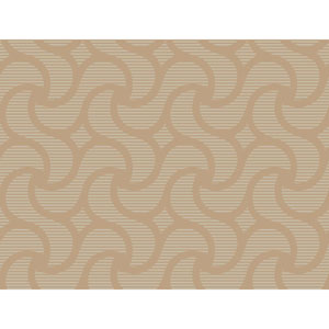 Ronald Redding Sculptured Surfaces Gold and Taupe Cadance Wallpaper