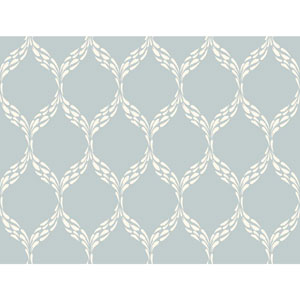 Ronald Redding Sculptured Surfaces Pale Blue and Off White Panache Wallpaper