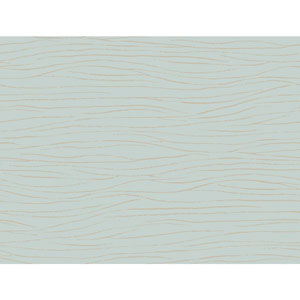 Ronald Redding Sculptured Surfaces Blue and Taupe Lagoon Wallpaper