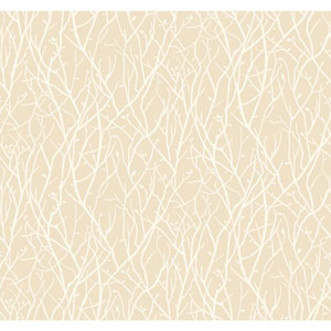 Ronald Redding Sculptured Surfaces Off-White and White Haven Wallpaper