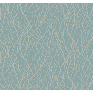 Ronald Redding Sculptured Surfaces Teal and Khaki Haven Wallpaper