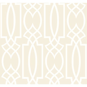 Ronald Redding Sculptured Surfaces Pearl White and White Tracery Wallpaper