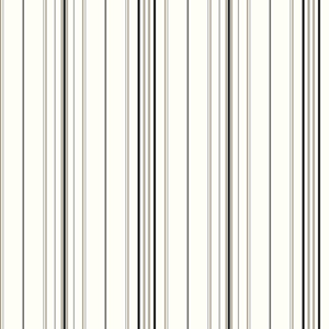 Cool Kids White and Black Wide Pinstripe Wallpaper