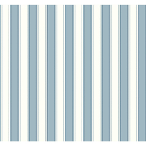 Inspired by Color Blue and White Silk Stripe Wallpaper