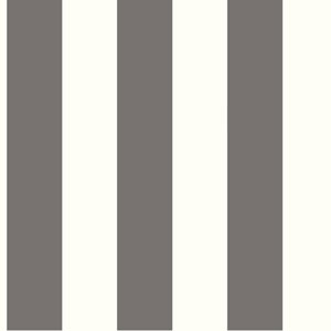 Ashford House Tropics Cream and Dark Grey 3-Inch Stripe Wallpaper