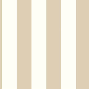 Ashford House Tropics Cream and Light Taupe 3-Inch Stripe Wallpaper