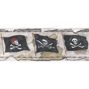 Brothers and Sisters V Pirate Flag Border