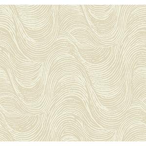 Masterworks Beige Waves Wallpaper