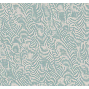 Masterworks Silver and Blue Waves Wallpaper
