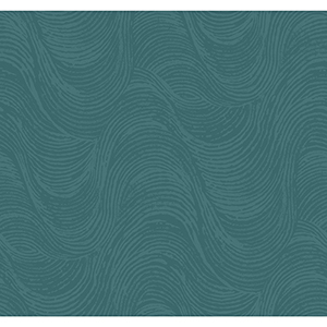 Masterworks Teal Waves Wallpaper