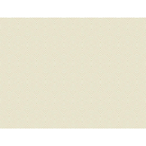 Masterworks Beige Circle Wallpaper