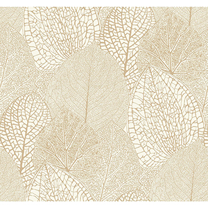 Masterworks Gold and White Botanical Wallpaper
