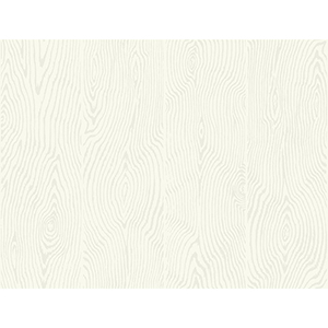 Masterworks Off White Wood Veneer Wallpaper