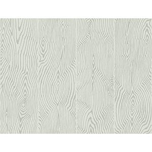 Masterworks Gray Wood Veneer Wallpaper