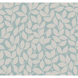 Masterworks Silver and Blue Botanical Wallpaper