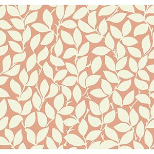 Masterworks Tangerine Botanical Wallpaper