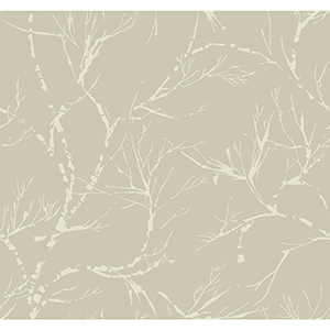 Masterworks Pewter Foliage Wallpaper