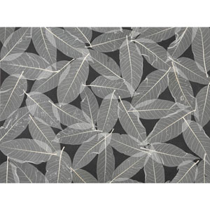 Ronald Redding Designer Resource Black and Beige Grasscloth Natural Leaves Wallpaper