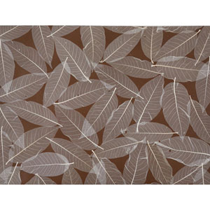 Ronald Redding Designer Resource Brown and Beige Grasscloth Natural Leaves Wallpaper