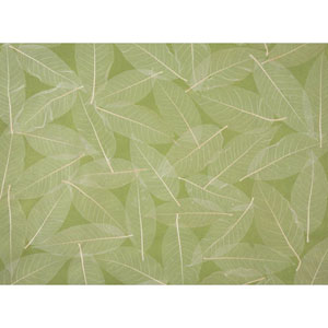Ronald Redding Designer Resource Green and Beige Grasscloth Natural Leaves Wallpaper