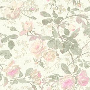Vintage Luxe Vintage Floral Wallpaper