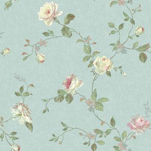 Vintage Luxe Vintage Floral Trail Wallpaper