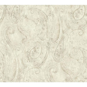 Vintage Luxe Sketched Paisley Wallpaper
