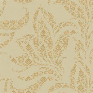 Silver Leaf II Catalina Taupe and Bright Metallic Gold Wallpaper