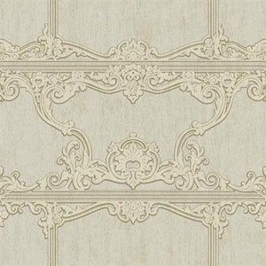 Silver Leaf II Venetia Metallic Silver, Soft Grey and Taupe Wallpaper