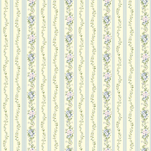 Inspired by Color Light Cream, Blue, Green and Lavender Wallpaper