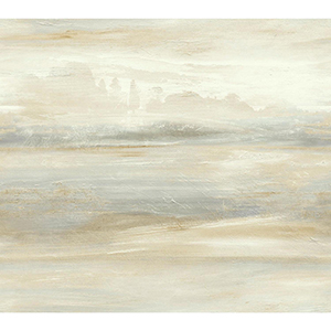 Candice Olson Tranquil Tan Scenic Wallpaper